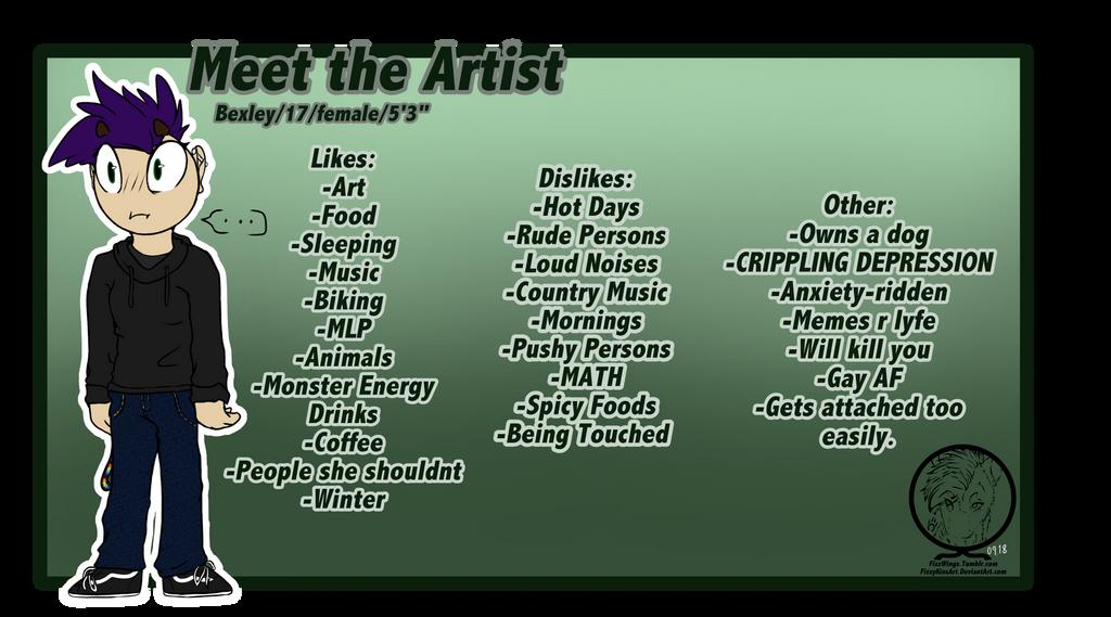 Meet The Artist by FizzyKinsArt