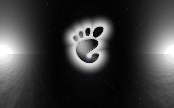EgFox Gnome Black and White by Eg-Art
