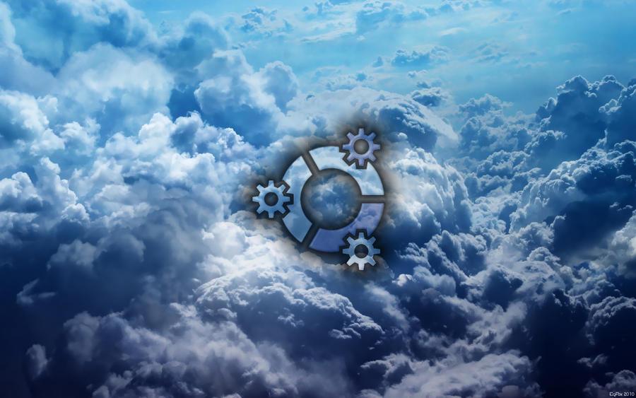 EgFox Kubuntu HD Clouds