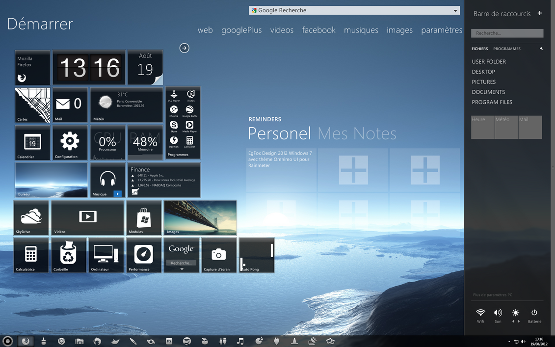 EgFox windows 7 Desktop 2012-  Omnimo UI by Eg-Art