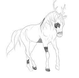WIP Zen Doodle Horse Character - Lark (UPDATE #3)