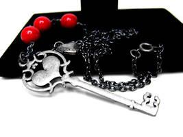 Heart Skeleton Key Necklace by pila12903