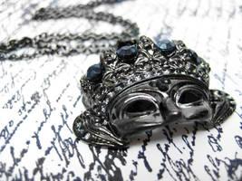 Masquerade Mask Necklace by pila12903