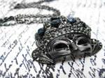 Masquerade Mask Necklace