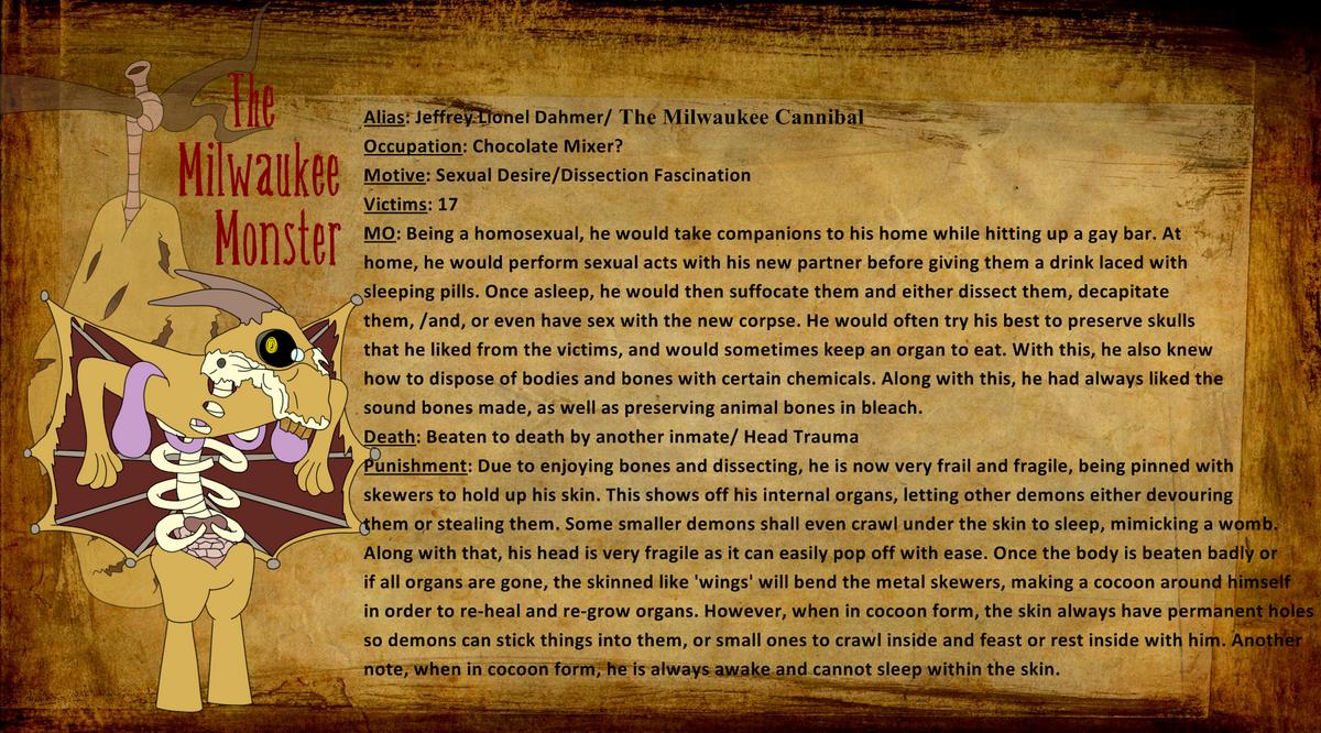 Demonology 101 - The Milwaukee Monster by MyuuTheMew