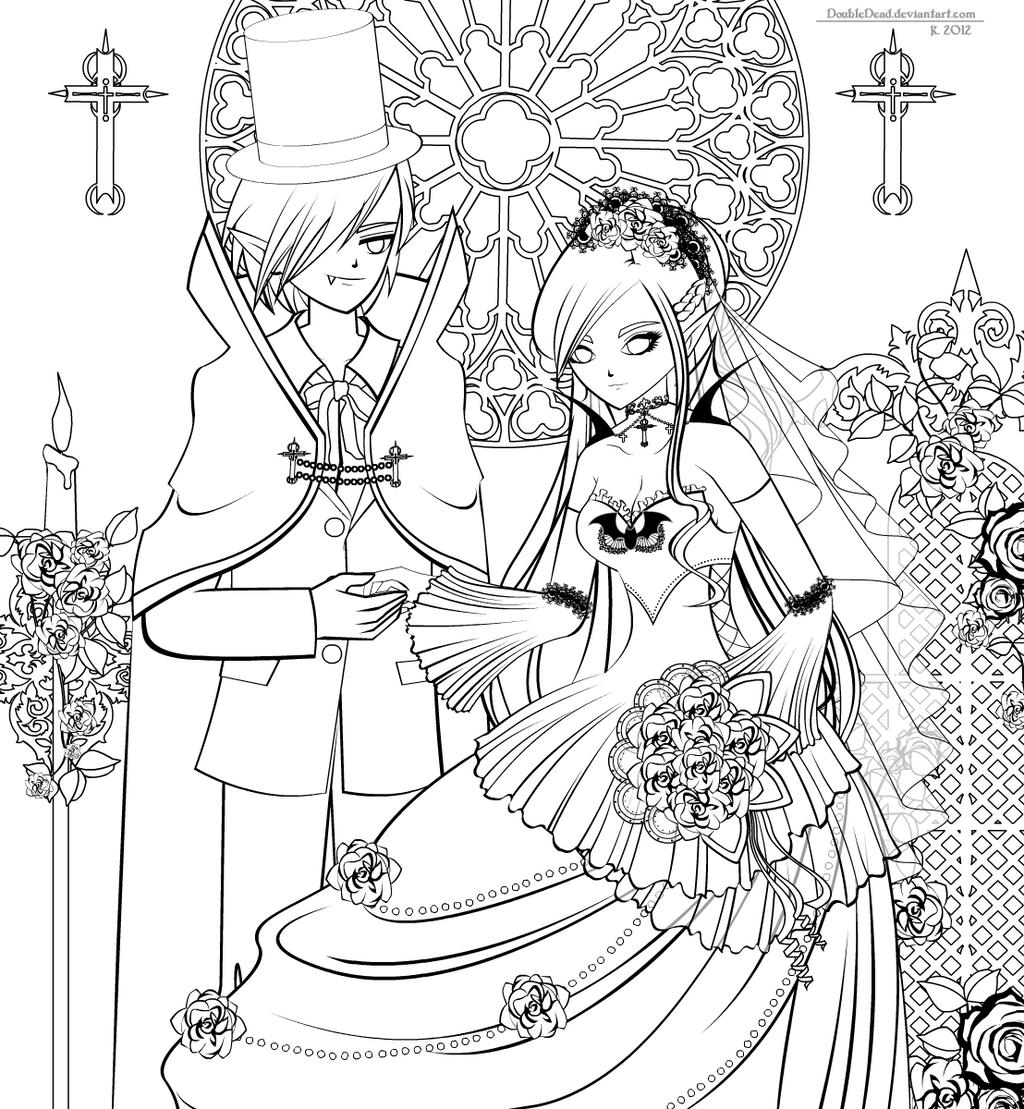 Vampire's Bride [Lineart] by DoubleDead