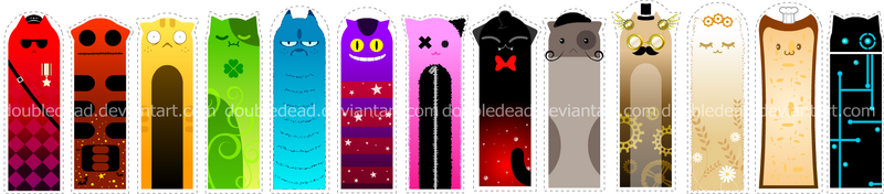 Cat Bookmarks by DoubleDead