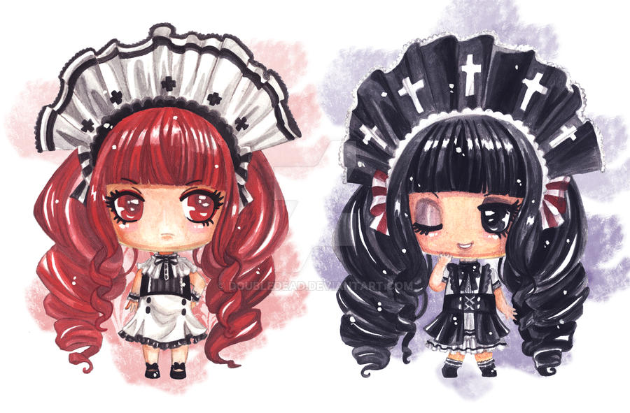 [CLOSED] ADOPT Maid Twins by DoubleDead