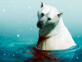 I hope heaven has glaciers by ZakraArt