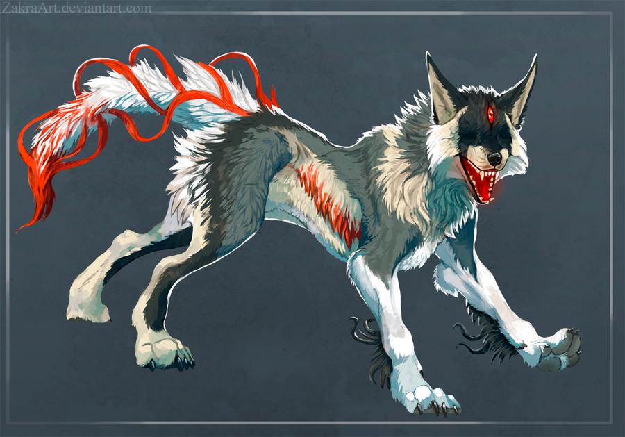 Demon wolf - auction by ZakraArt on DeviantArt - photo#38