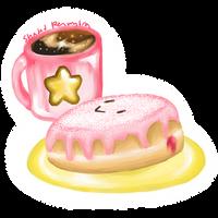 Kirby Jelly Donut by ShadedPenumbra