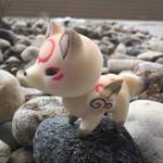 Ame/Chibiterasu 3D Model: Painted