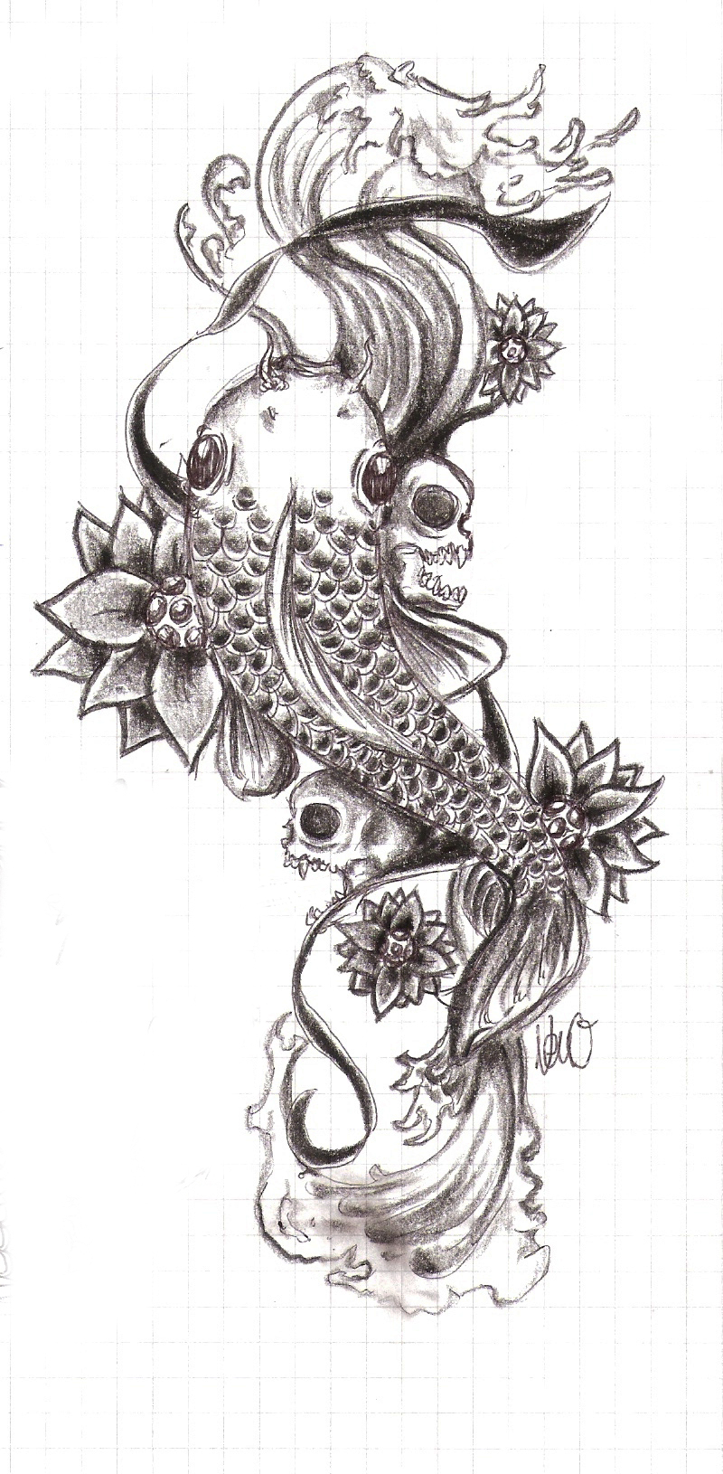 koi tattoo 2 by radioactivenemofish on deviantart. Black Bedroom Furniture Sets. Home Design Ideas