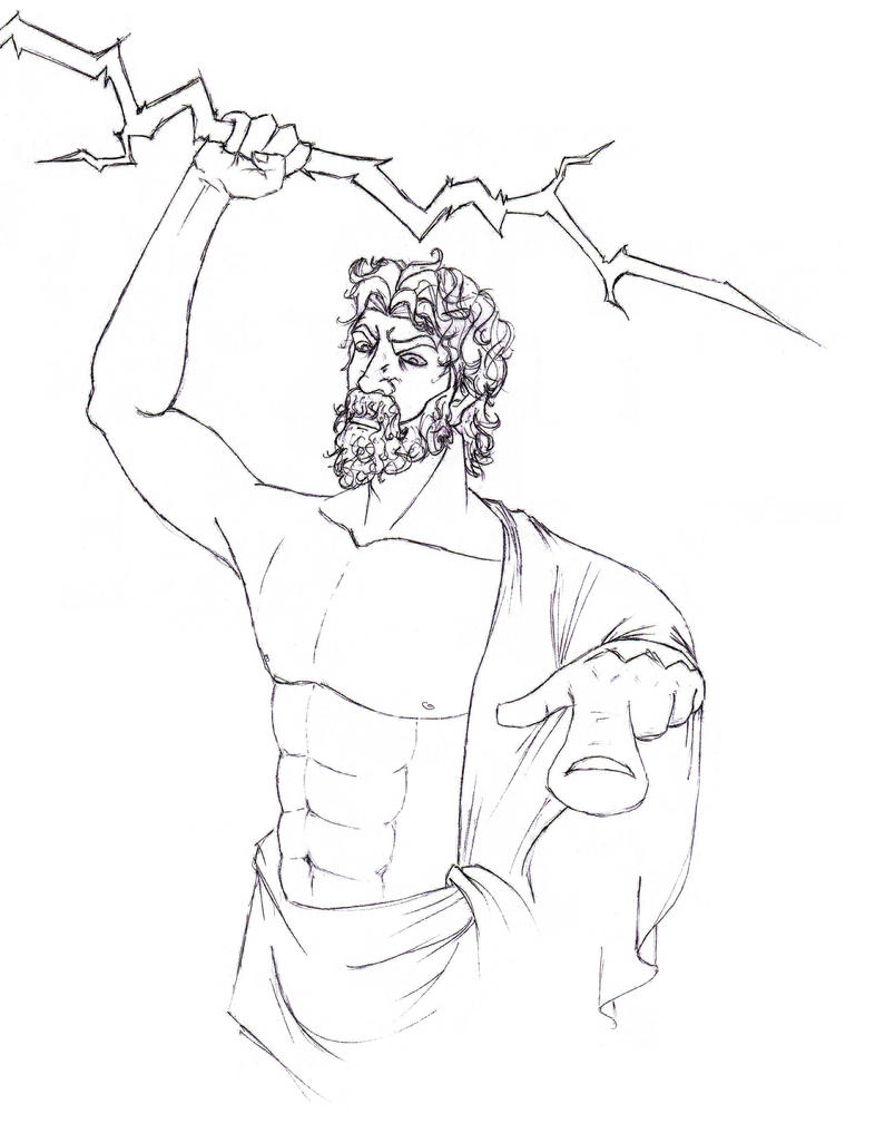 Images Of Zeus Drawing Simple Www Industrious Info