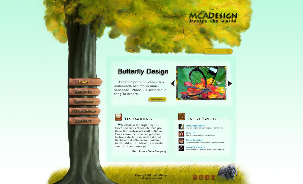 Tree Website Template By Mcadesigner On Deviantart