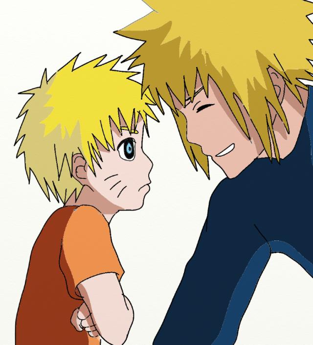 Naruto and Minato :3 by SenninArtistModo