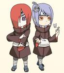 Nagato and Konan (Chibi)