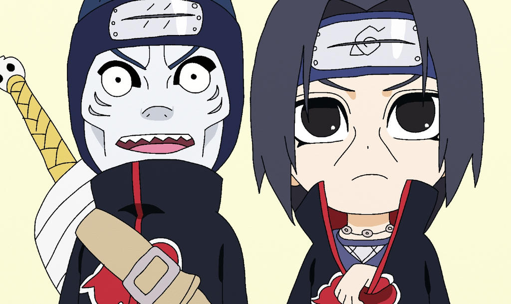 Itachi Uchiha And Kisame Hoshigaki Chibi By Senninartistmodo On Deviantart