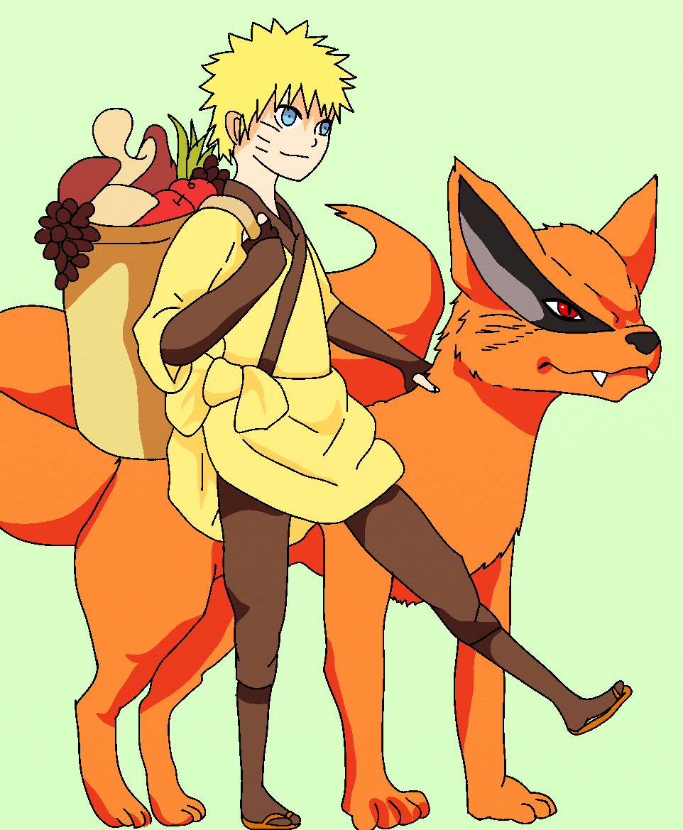Naruto And Kurama Walk By SenninArtistModo On DeviantArt