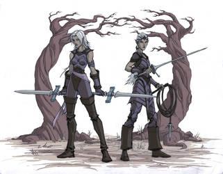 Dark Elf Assassins by warp-zero