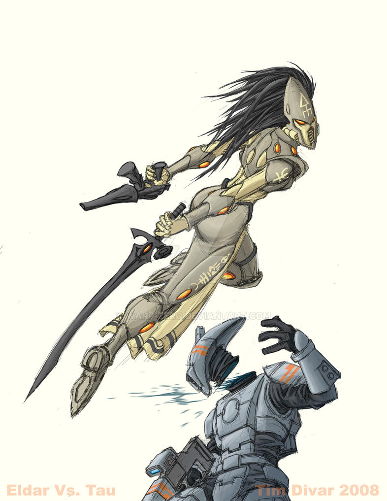 Eldar versus Tau by warp-zero