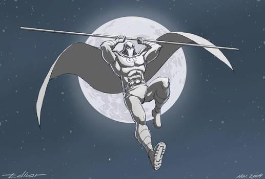 Draw Challenge 1: Moon Knight by warp-zero