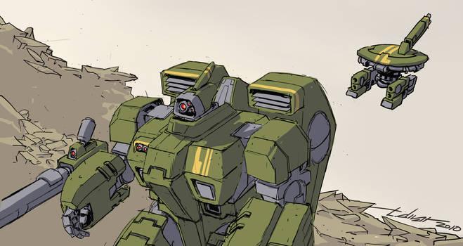 On Patrol - Tau Crisis Suit by warp-zero