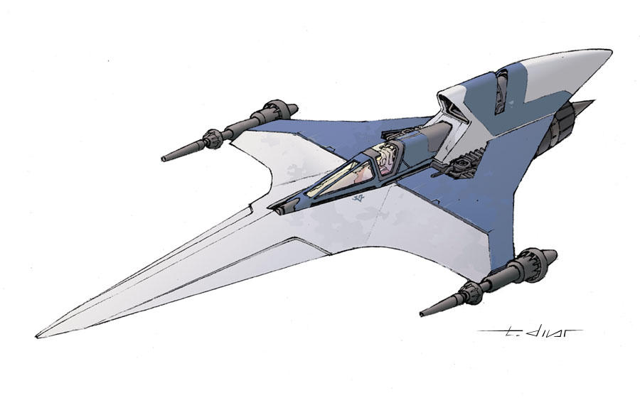 Star Wars Fighter By Warp Zero On DeviantArt