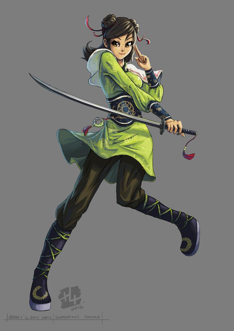 .: Female Swordsman :. by Hikari151