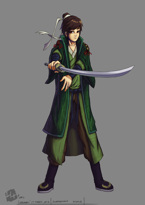 .: Swordsman male :. by Hikari151 on DeviantArt