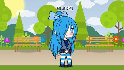 GachaLife: Blu(Senran Kagura) by MegaAli