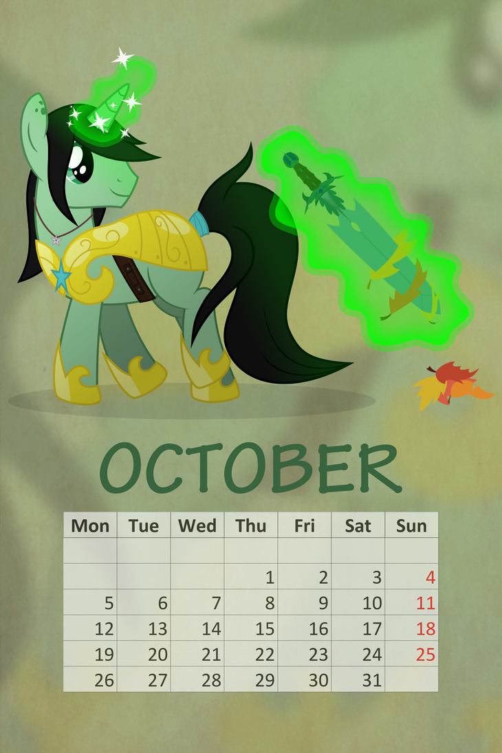 Royal Calendar 2015: October by csillaghullo by Cloudzapper8