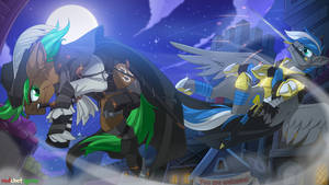 Night Duel By Redchetgreen