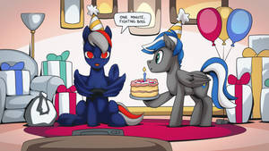 Gamer pony by mysticalpha