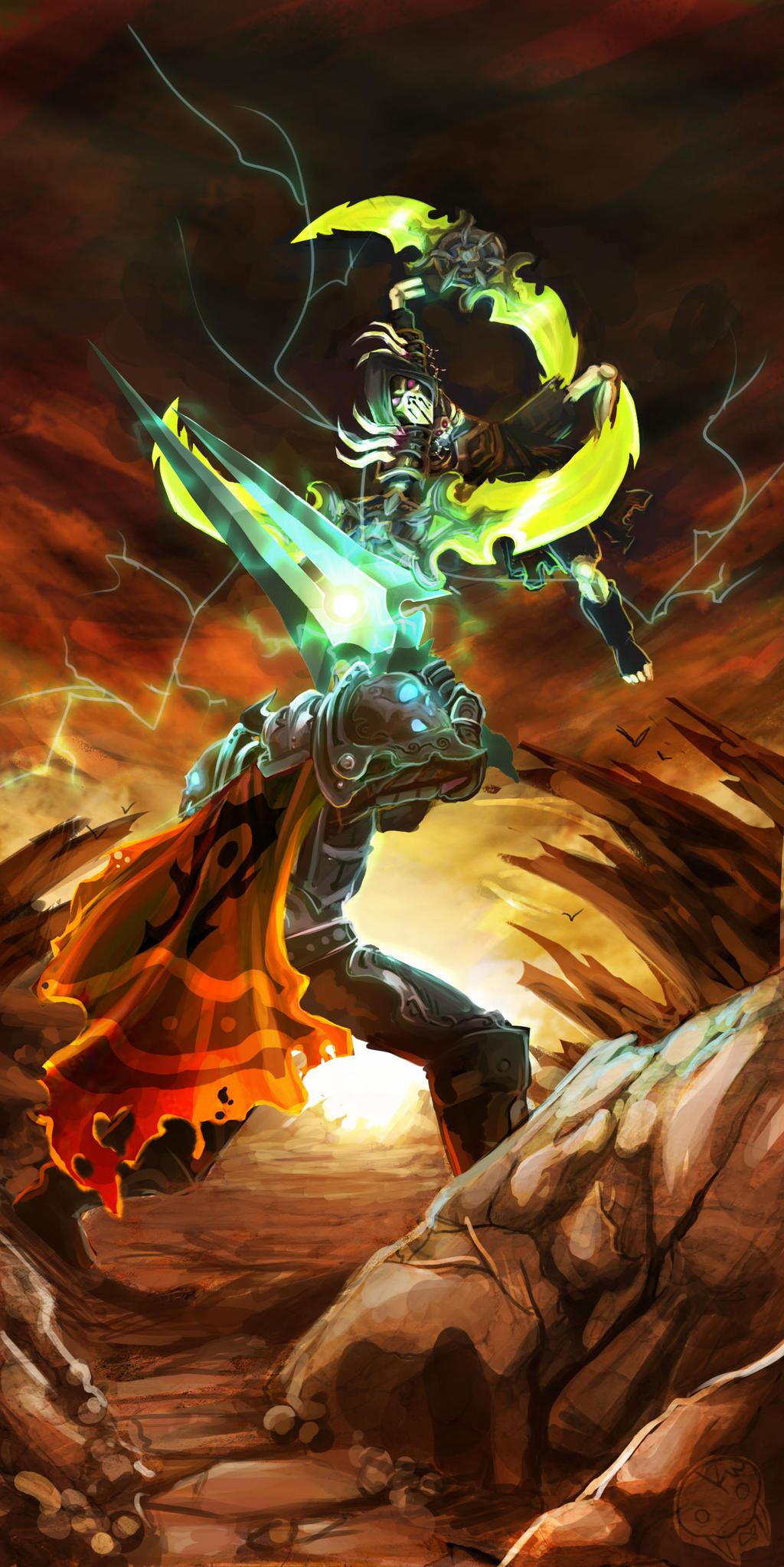 Thunderglaives of fury by KamikazeWalrus