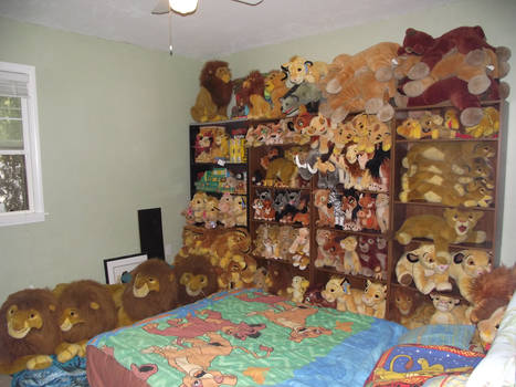 My Lion King plush collection.