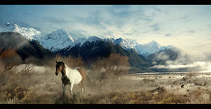 Landscape With Horse by Child0fBodom