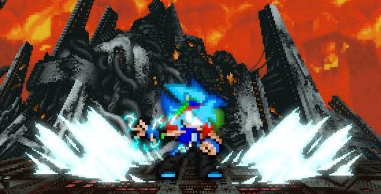 Zak The Lightninghog (glow effect practise) by JKImmortalGaming