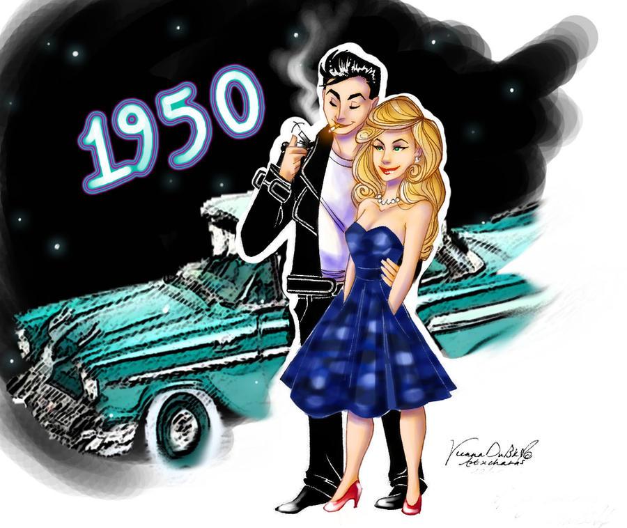 1950s greaser girl