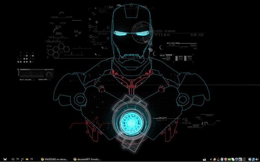 Iron Man Hud Wallpaper My Iron Man Desktop By Masduke