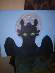 toothless painting by korsou101