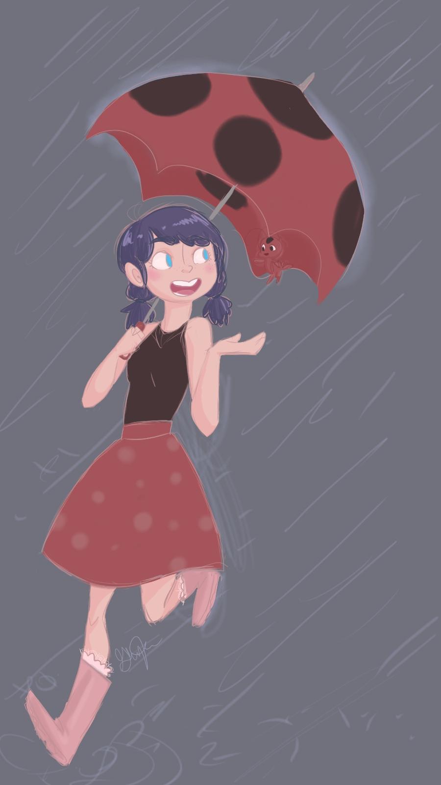 Mari in the rain by EternalDayDreams