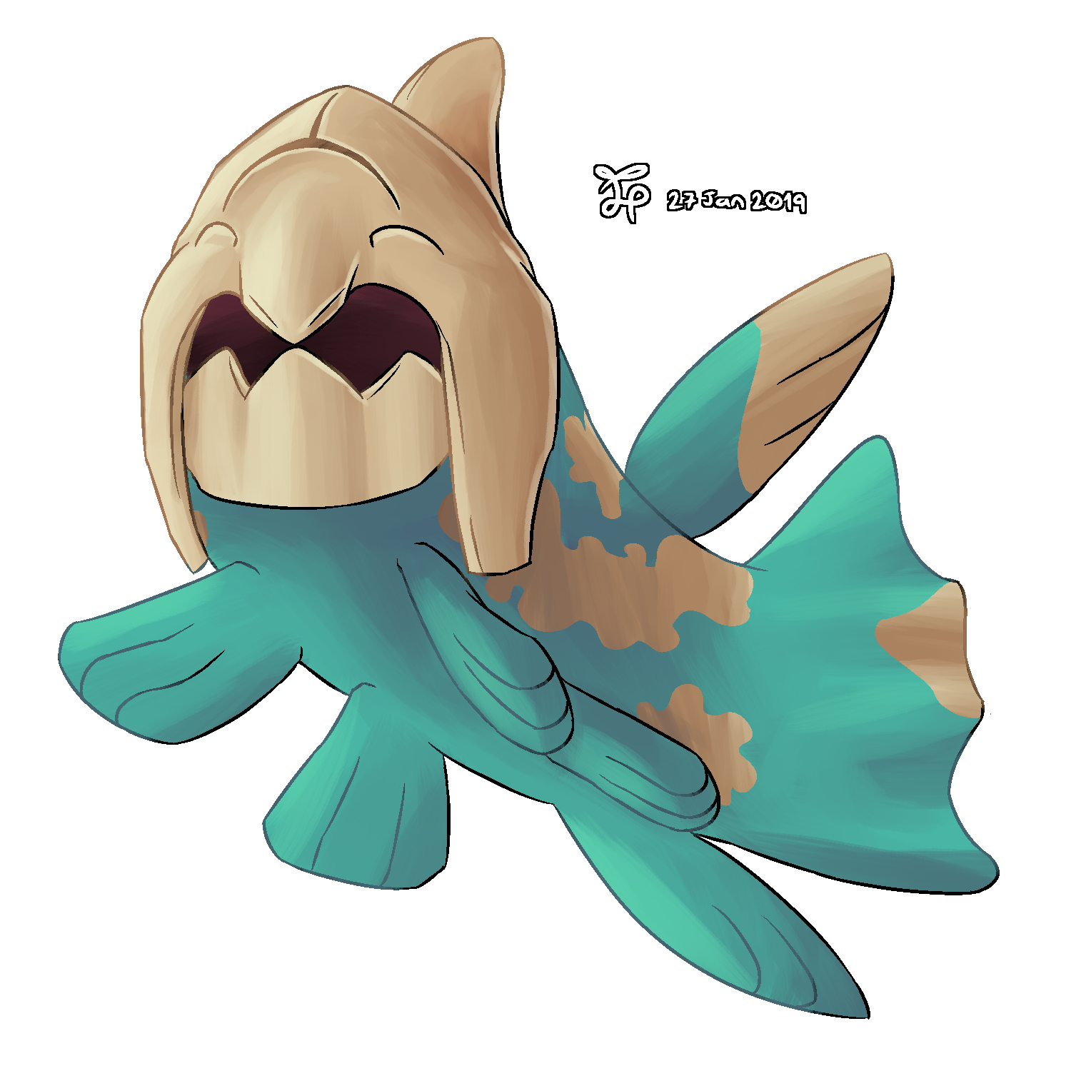 Water Type Collab - Relicanth Shiny