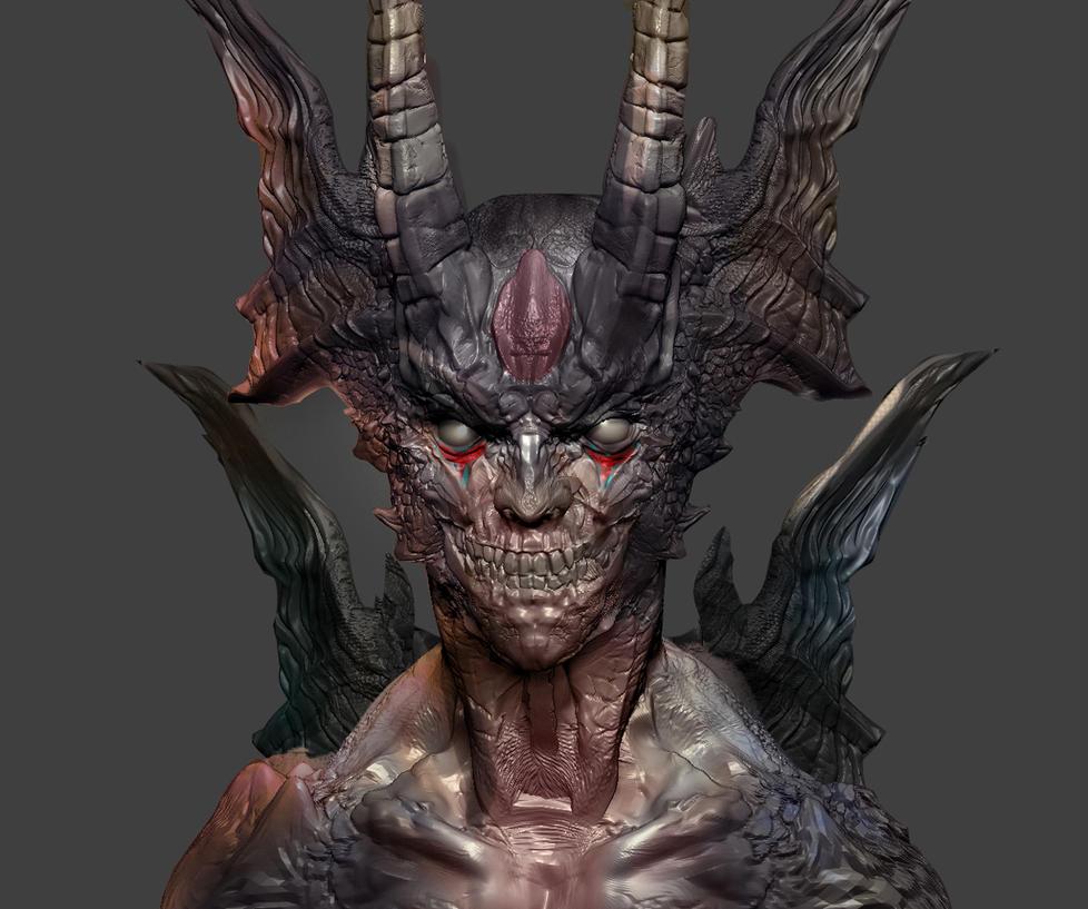 Devilman fanart by M3W4gunner