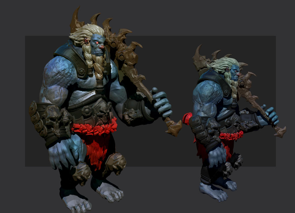 Blue orc study by M3W4gunner