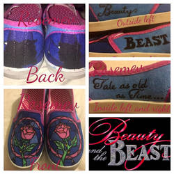Beauty and the Beast custom shoes  by Rosemev