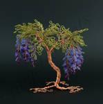 Asymmetric floral style tree sculpture