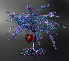 Inspiration - bead and wire tree of life by Twystedroots