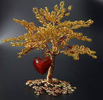Happiness - bead and wire tree of life