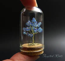 Miniature Tree in blue by Twystedroots